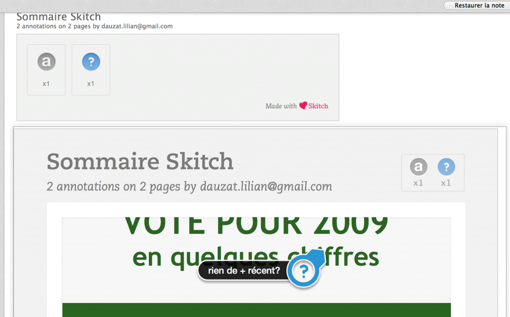 Skitch - Le sommaire