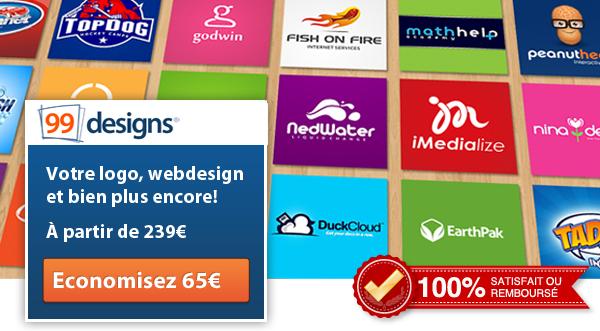 Création de logo avec 99designs